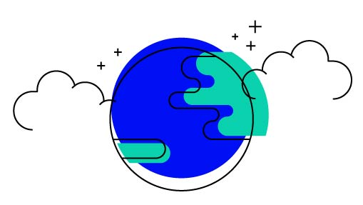 iconic drawing of the earth
